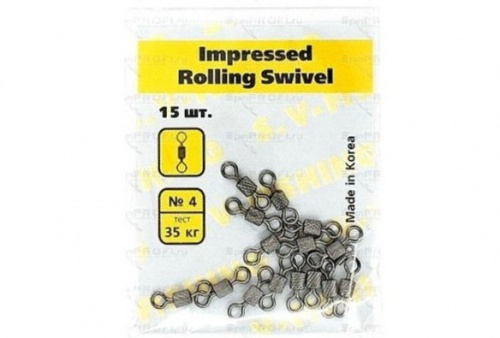 Вертлюг SV Fishing Impressed Rollig Swivel